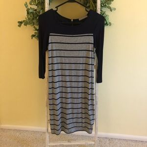 Loveapella Striped Navy Dress